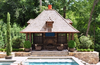 Lake Forest Drive Pool Cabana